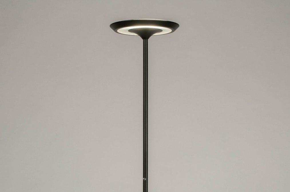 Floor lamp 73614: modern, metal, black, matt #0