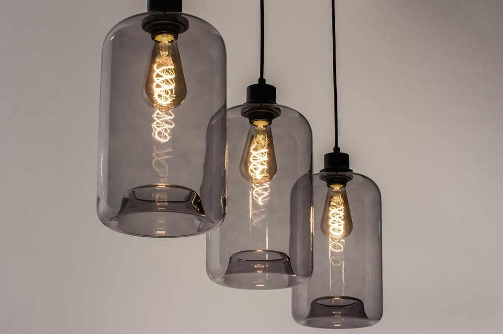 Hanglamp 73629: modern, retro, glas, metaal #0