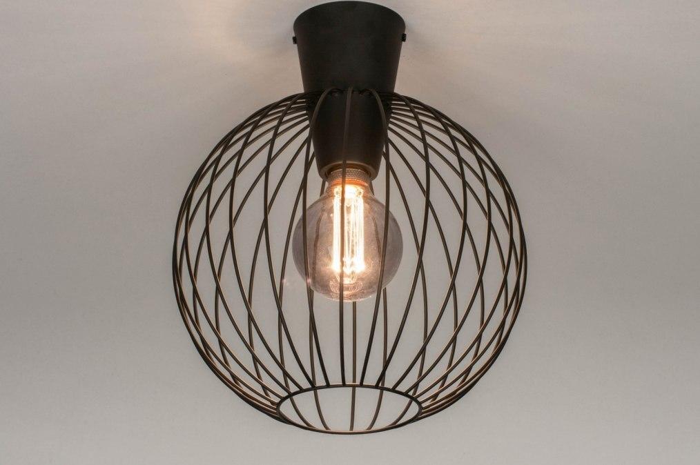 Ceiling lamp 73632: modern, retro, metal, black #0