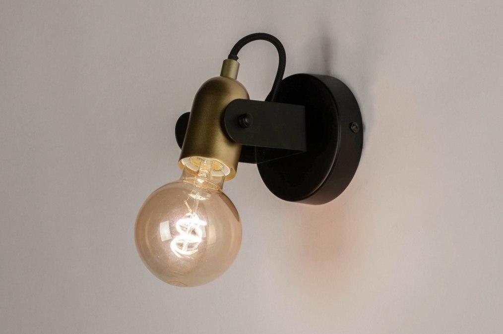 Wandlamp 73647: modern, eigentijds klassiek, art deco, metaal #0