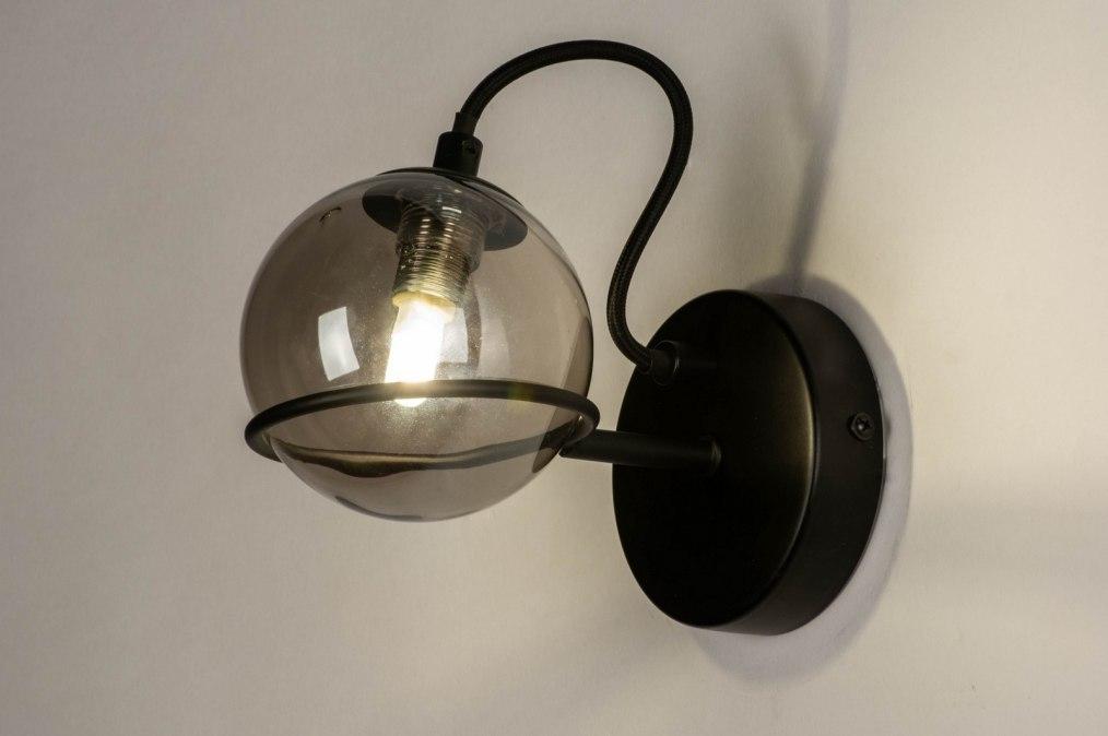 Wandlamp 73648: modern, retro, art deco, glas #0