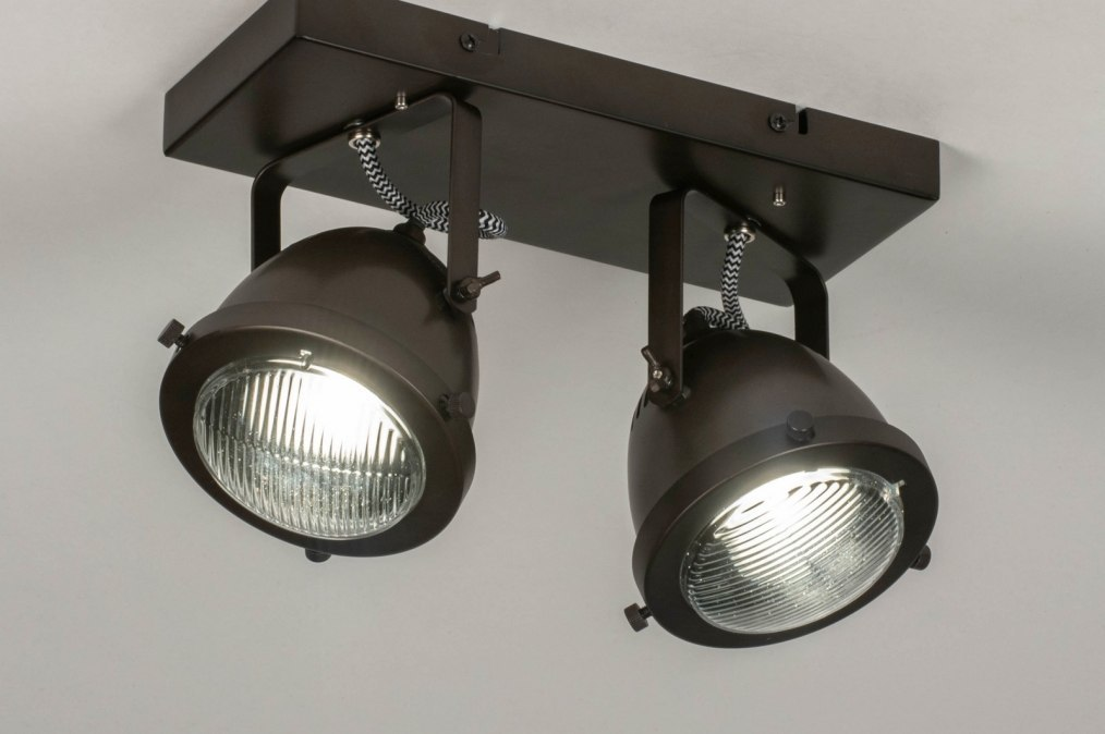 Spot 73652: look industriel, rural rustique, lampes costauds, retro #0