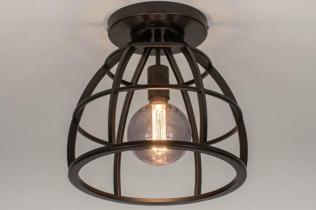 Plafondlamp 73655: industrie, look, landelijk, rustiek #0