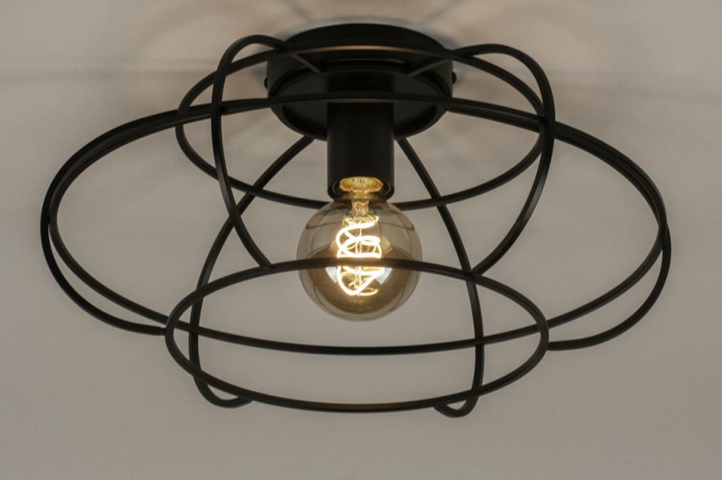 Plafondlamp 73657: industrie, look, modern, metaal #0