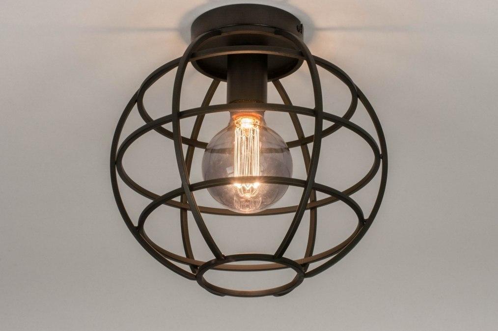 Plafondlamp 73658: industrie, look, modern, metaal #0