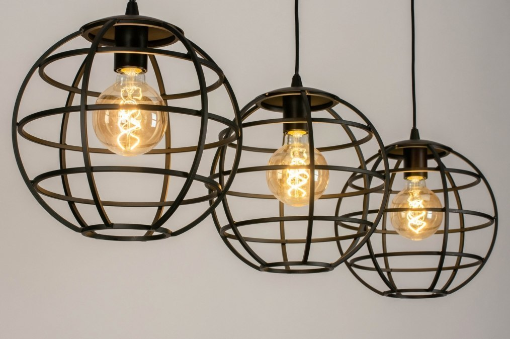 Hanglamp 73659: industrie, look, modern, stoer #0