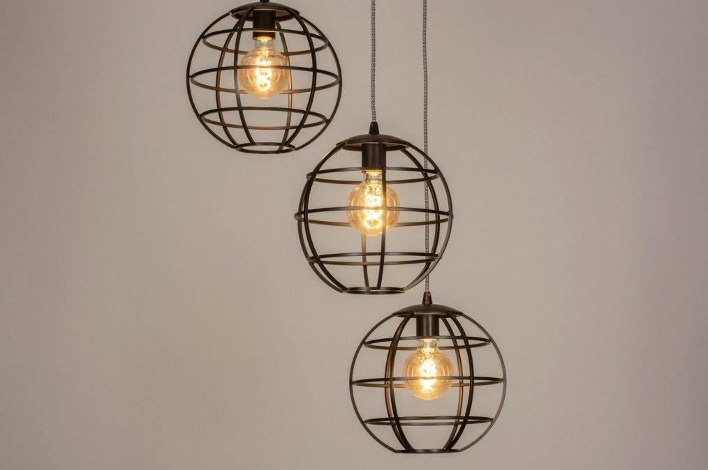 Hanglamp 73660: industrie, look, landelijk, rustiek #0