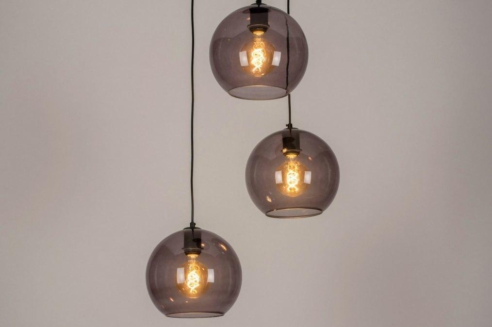 Pendelleuchte 73663: modern, Retro, Glas, Metall #0