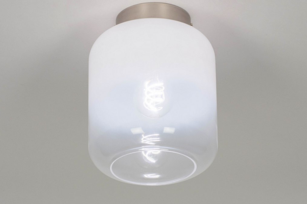 Ceiling lamp 73668: rustic, modern, glass, white opal glass #0