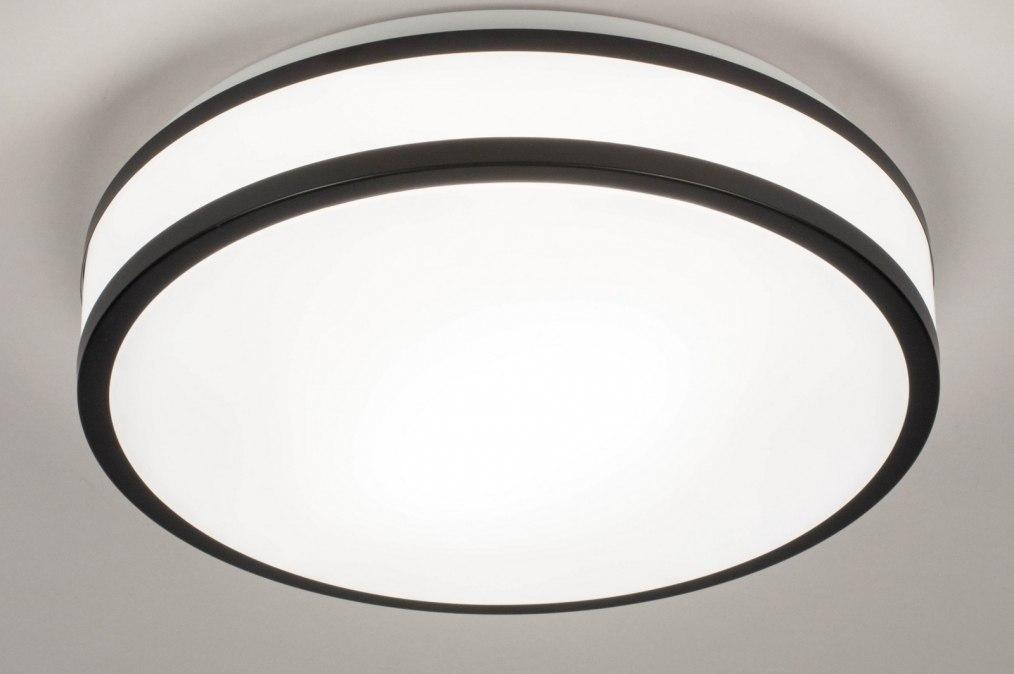 Plafondlamp 73674: modern, kunststof, zwart, mat #0