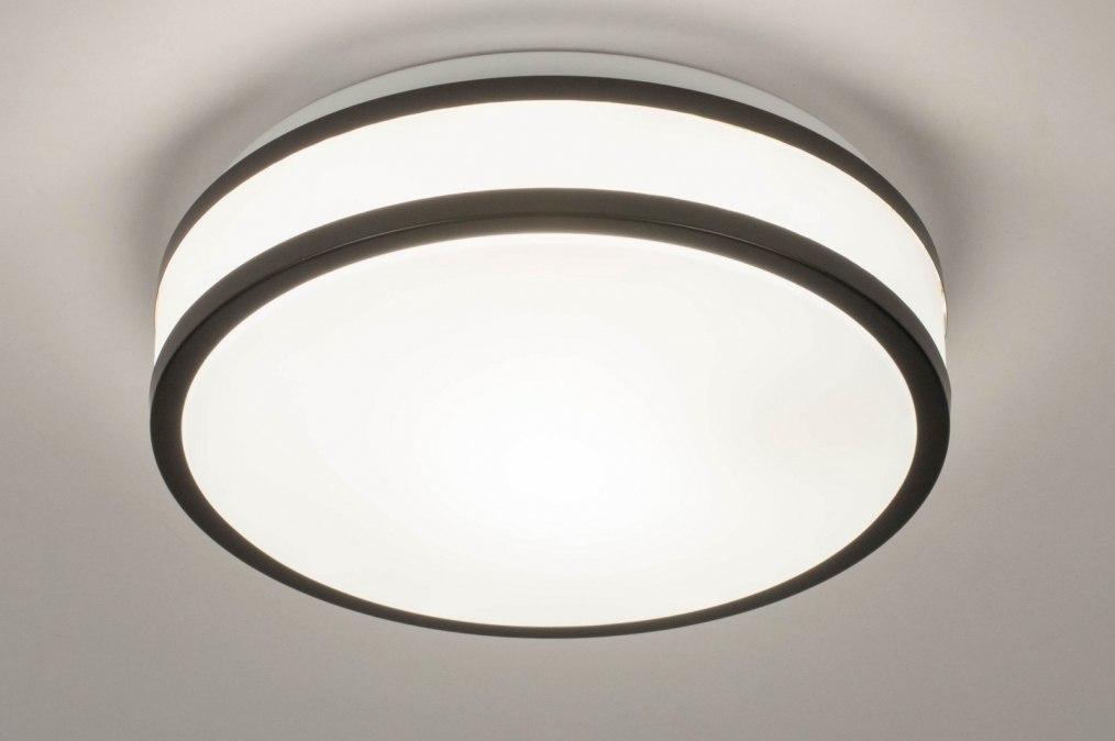 Plafondlamp 73675: modern, kunststof, zwart, mat #0