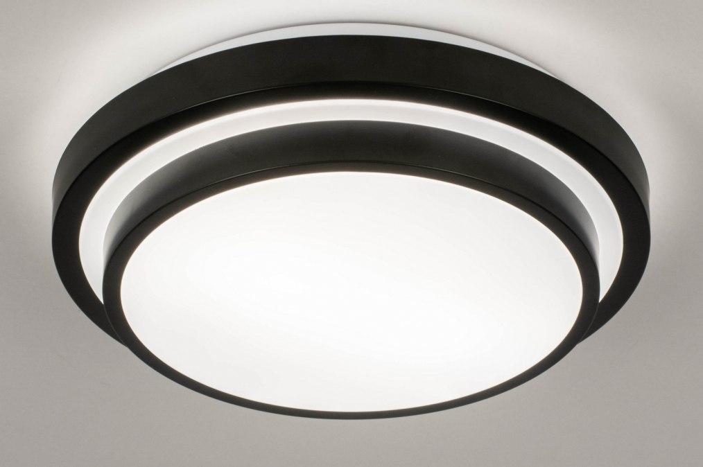 Plafonnier 73677: moderne, aluminium, plastique, noir #0
