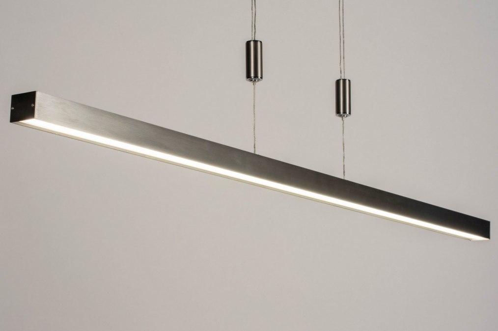 Hanglamp 73691: design, modern, staal rvs, metaal #0