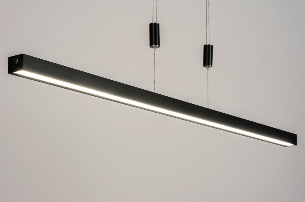 Hanglamp 73693: design, modern, metaal, zwart #0