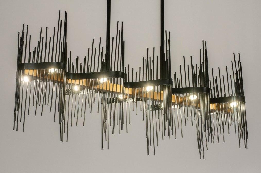 Hanglamp 73696: design, modern, metaal, zwart #0