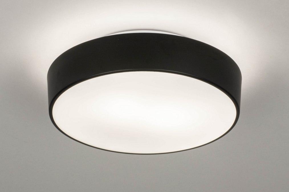 Plafondlamp 73710: modern, glas, wit opaalglas, metaal #0