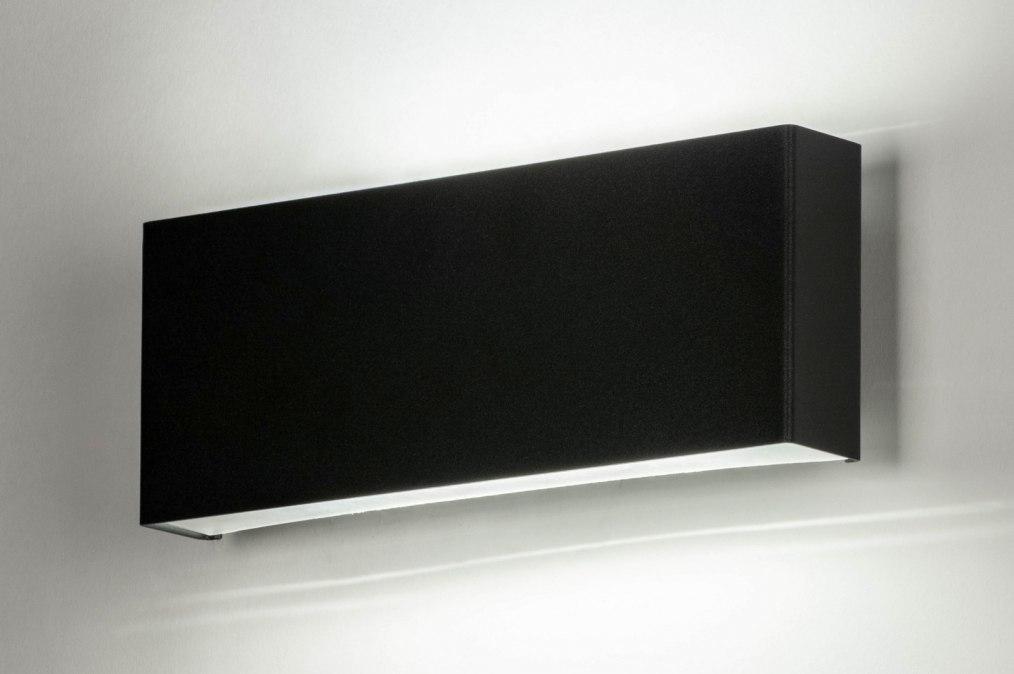 Wandlamp 73714: modern, aluminium, metaal, zwart #0