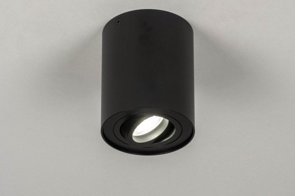 Spot 73721: modern, aluminium, zwart, mat #0