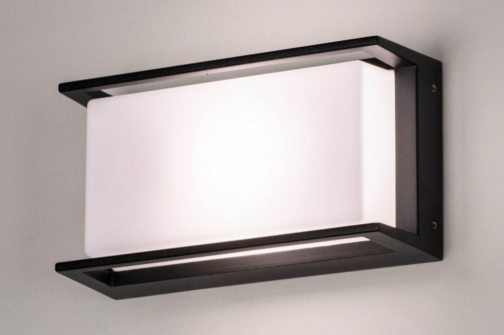 Wandlamp 73741: modern, aluminium, kunststof, polycarbonaat slagvast #0