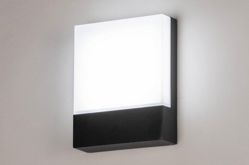 Wandlamp 73746: modern, aluminium, kunststof, polycarbonaat slagvast #0