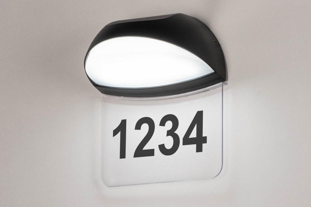 Wandlamp 73749: modern, aluminium, kunststof, polycarbonaat slagvast #0