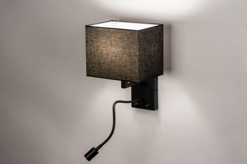 Wandlamp 73755: landelijk, rustiek, modern, stof #0