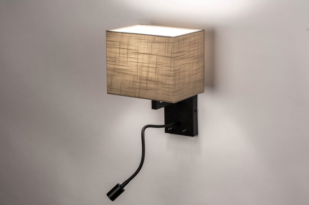 Wandlamp 73756: landelijk, rustiek, modern, stof #0