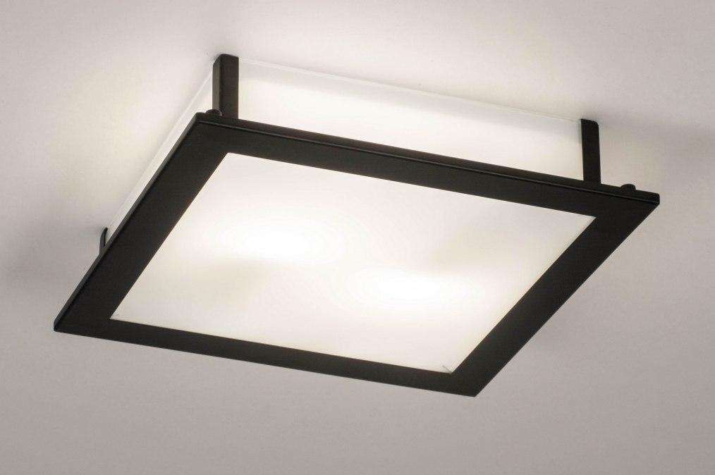 Plafondlamp 73763: industrie, look, modern, glas #0