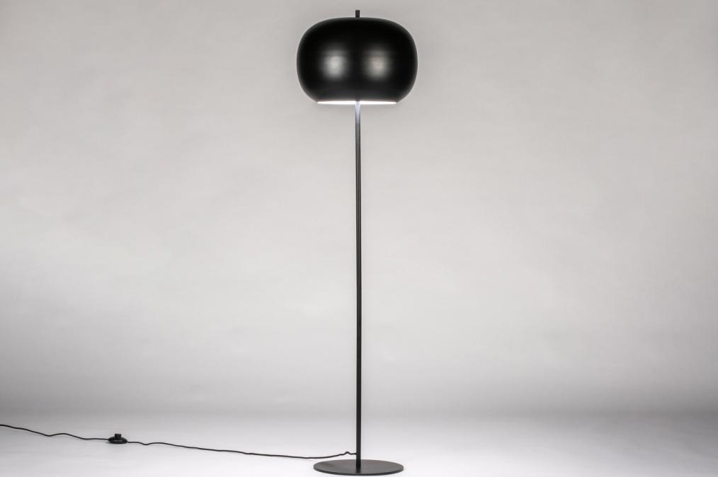 Vloerlamp 73813: modern, retro, metaal, zwart #0