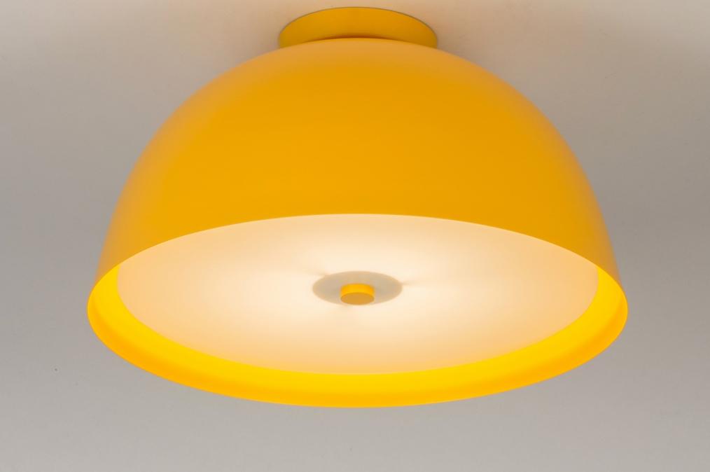 Plafondlamp 73820: sale, modern, metaal, geel #0