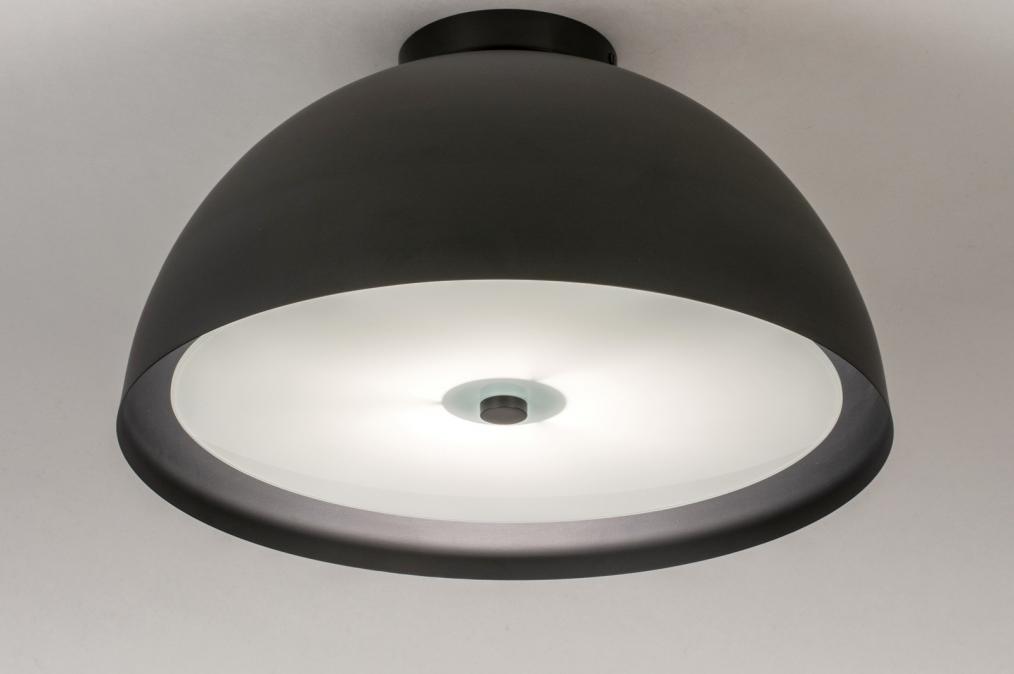 Plafondlamp 73821: sale, modern, metaal, zwart #0