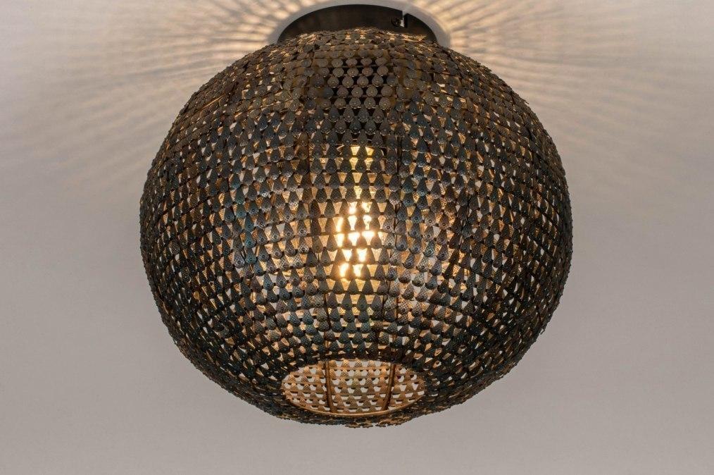 Plafondlamp 73826: industrie, look, landelijk, rustiek #0