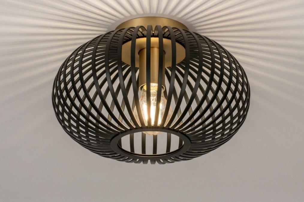 Plafondlamp 73839: modern, retro, metaal, zwart #0