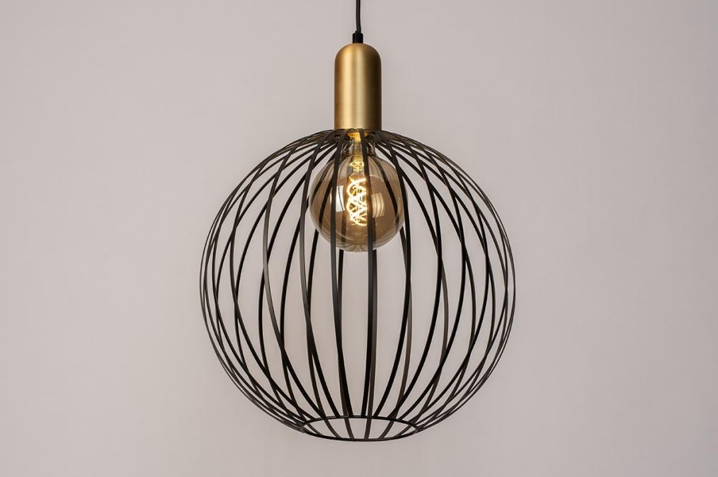 Hanglamp 73843: modern, eigentijds klassiek, art deco, metaal #0