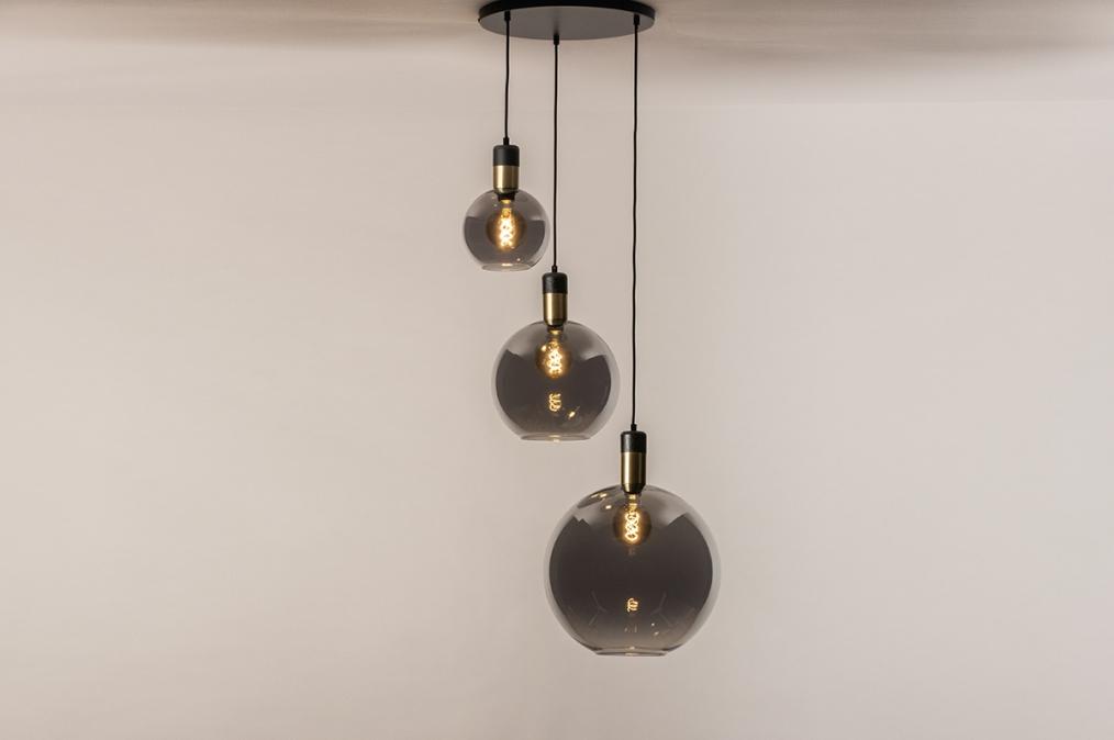 Hanglamp 73848: modern, eigentijds klassiek, art deco, glas #0