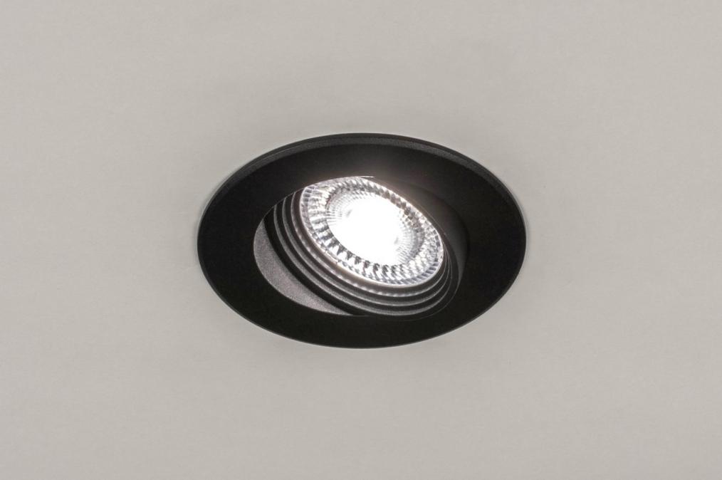 Inbouwspot 73883: industrie, look, modern, aluminium #0