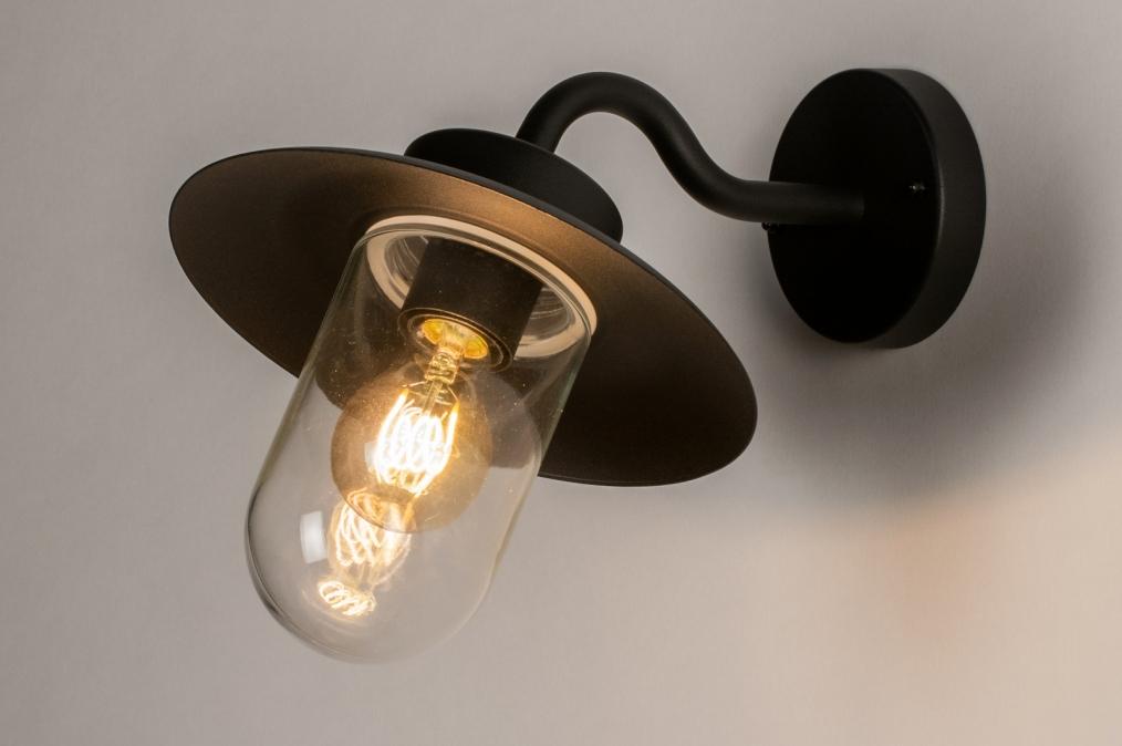 Buitenlamp 73888: landelijk rustiek, modern, eigentijds klassiek, glas #0