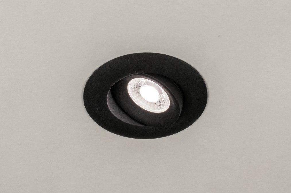 Inbouwspot 73900: design, modern, aluminium, zwart #0