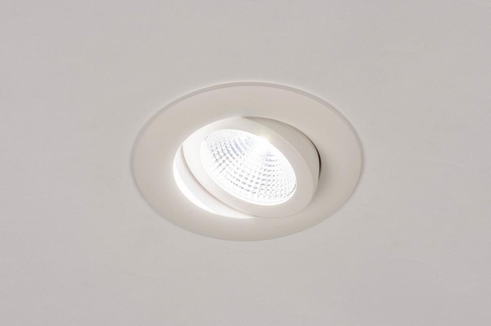 Inbouwspot 73903: design, modern, aluminium, wit #0