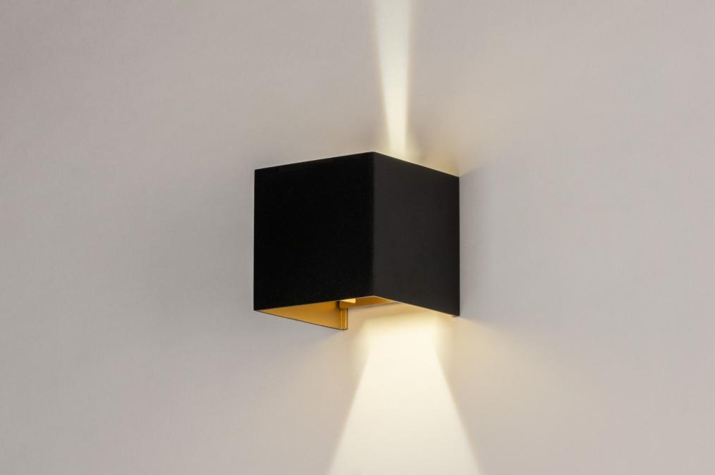 Wandlamp 73908: modern, aluminium, metaal, zwart #0