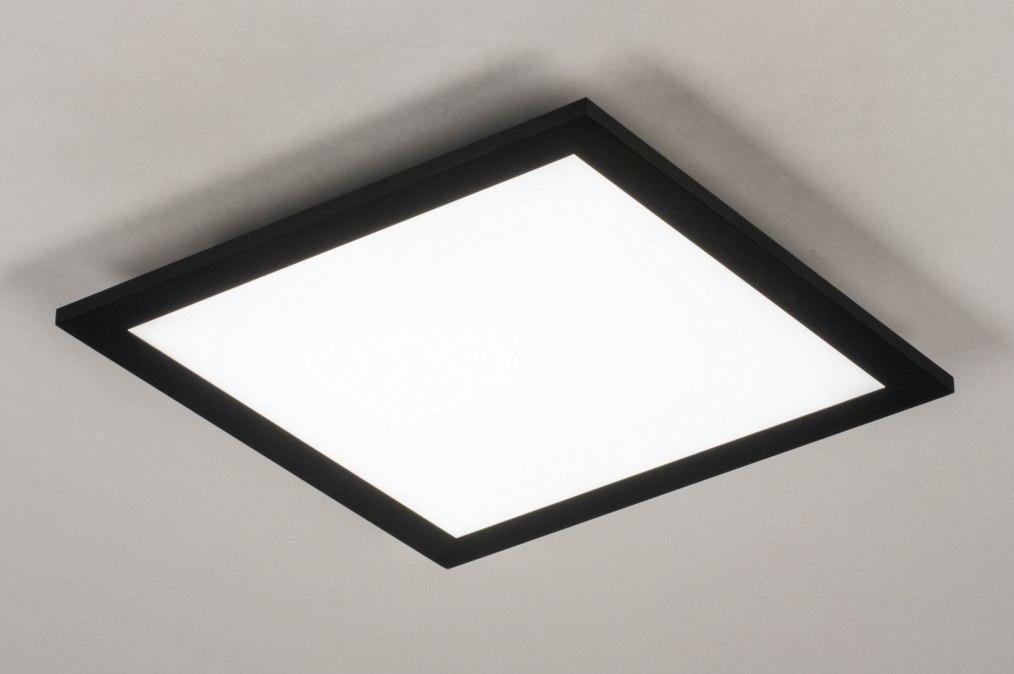 Plafondlamp 73910: modern, aluminium, kunststof, zwart #0