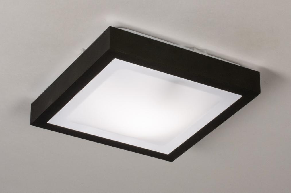 Plafondlamp 73918: modern, aluminium, kunststof, zwart #0