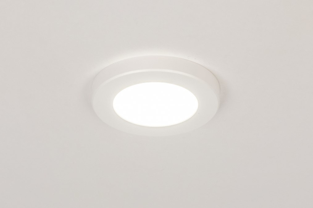 Plafondlamp 73930: modern, kunststof, wit, mat #0