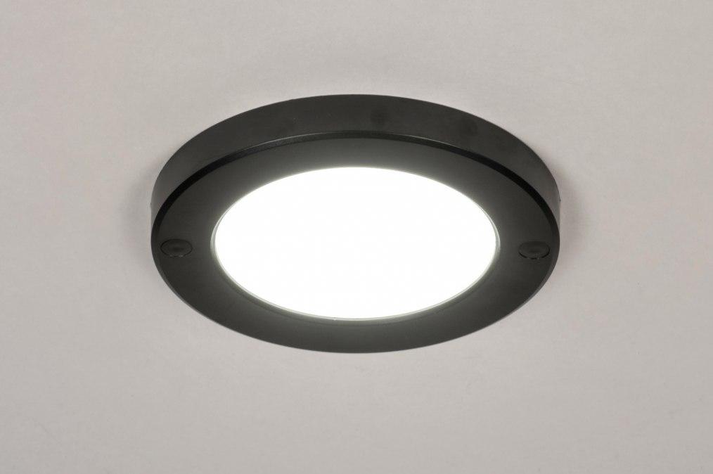 Plafondlamp 73932: modern, kunststof, zwart, wit #0