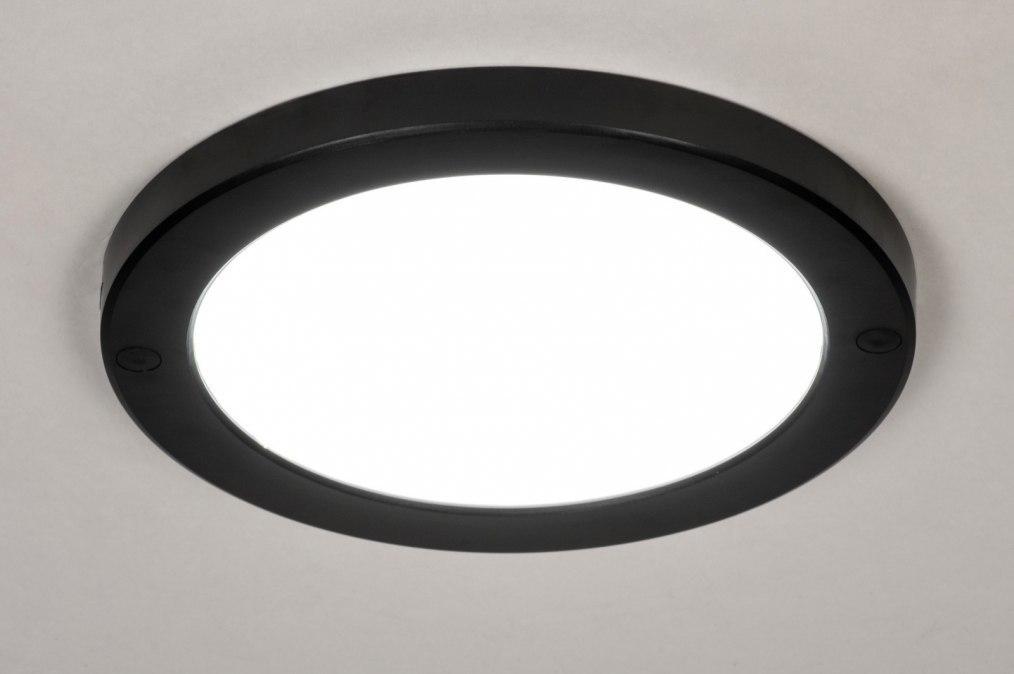 Plafondlamp 73935: modern, kunststof, zwart, mat #0