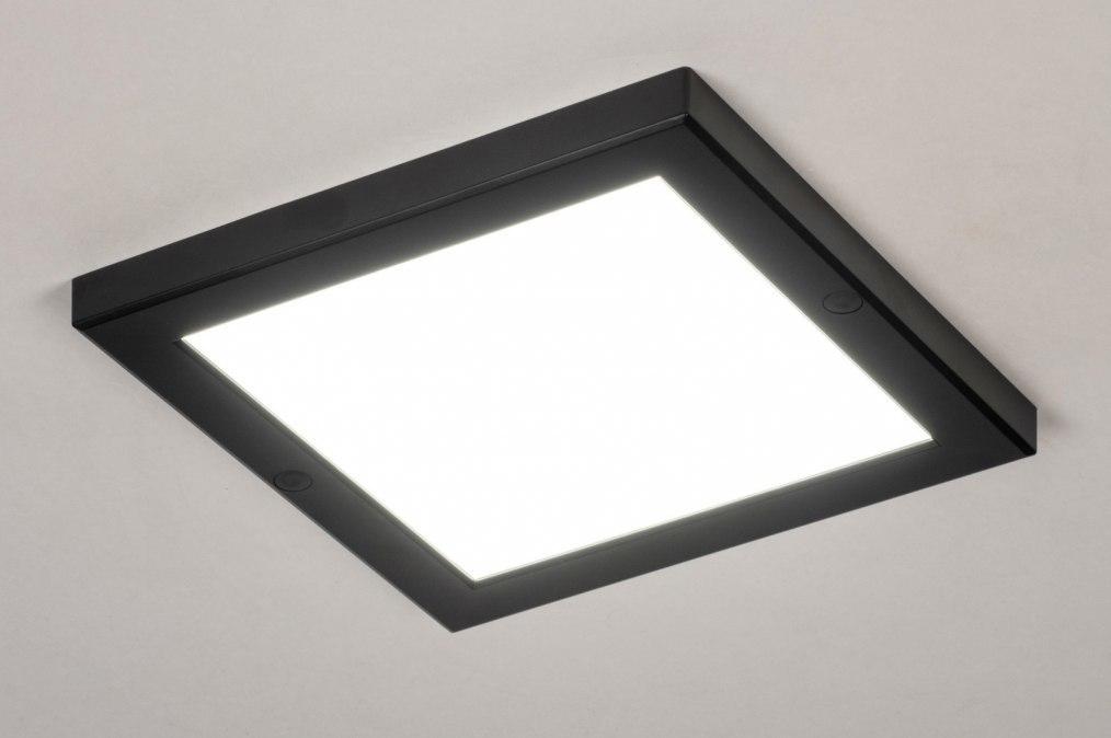 Plafondlamp 73936: modern, kunststof, zwart, mat #0