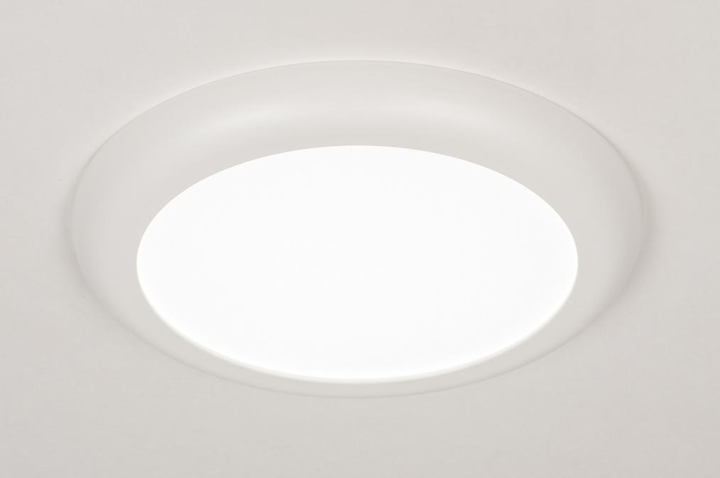 Plafonnier 73937: moderne, plastique, blanc, mat #0