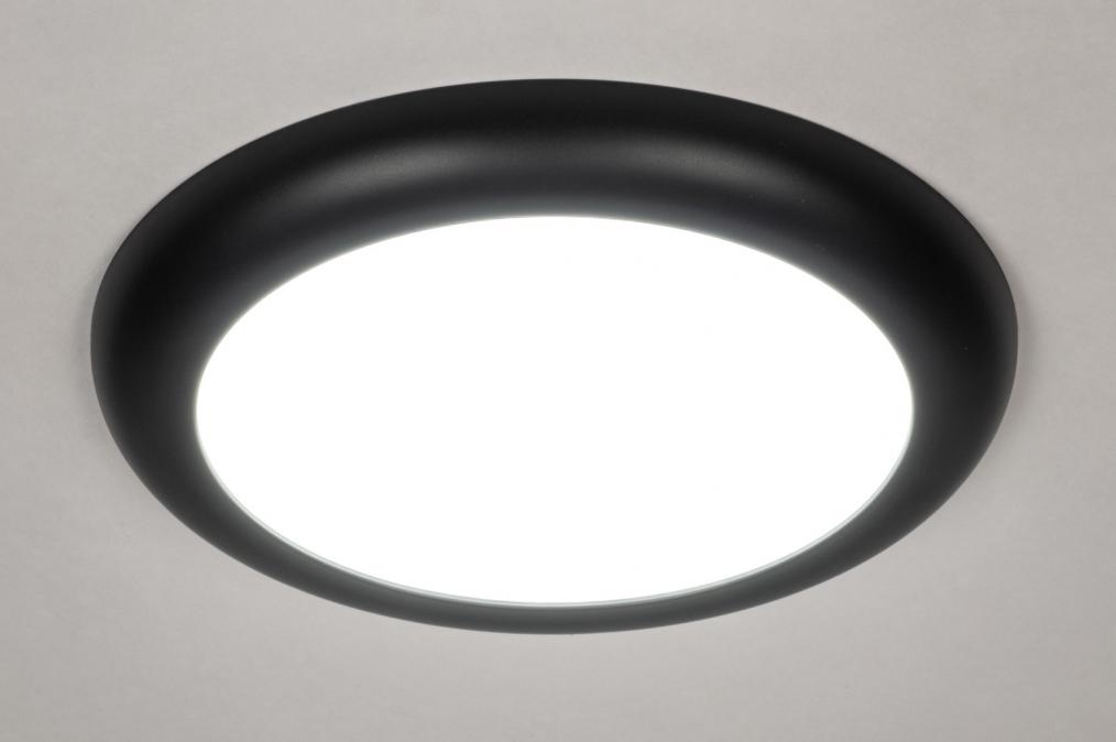 Plafondlamp 73938: design, modern, kunststof, zwart #0