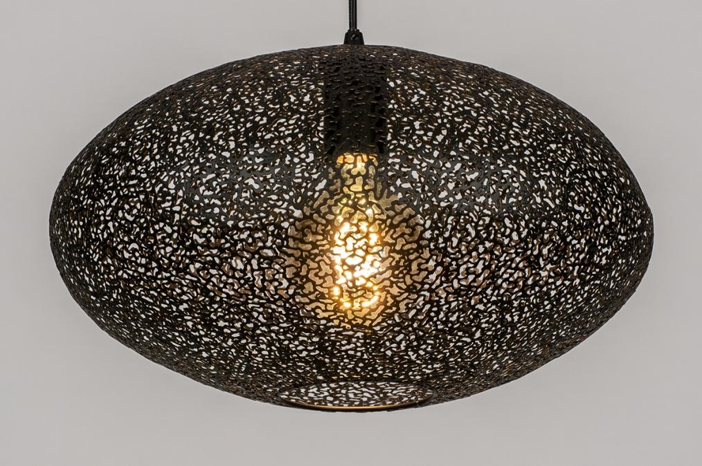 Hanglamp 73945: modern, metaal, zwart, mat #0