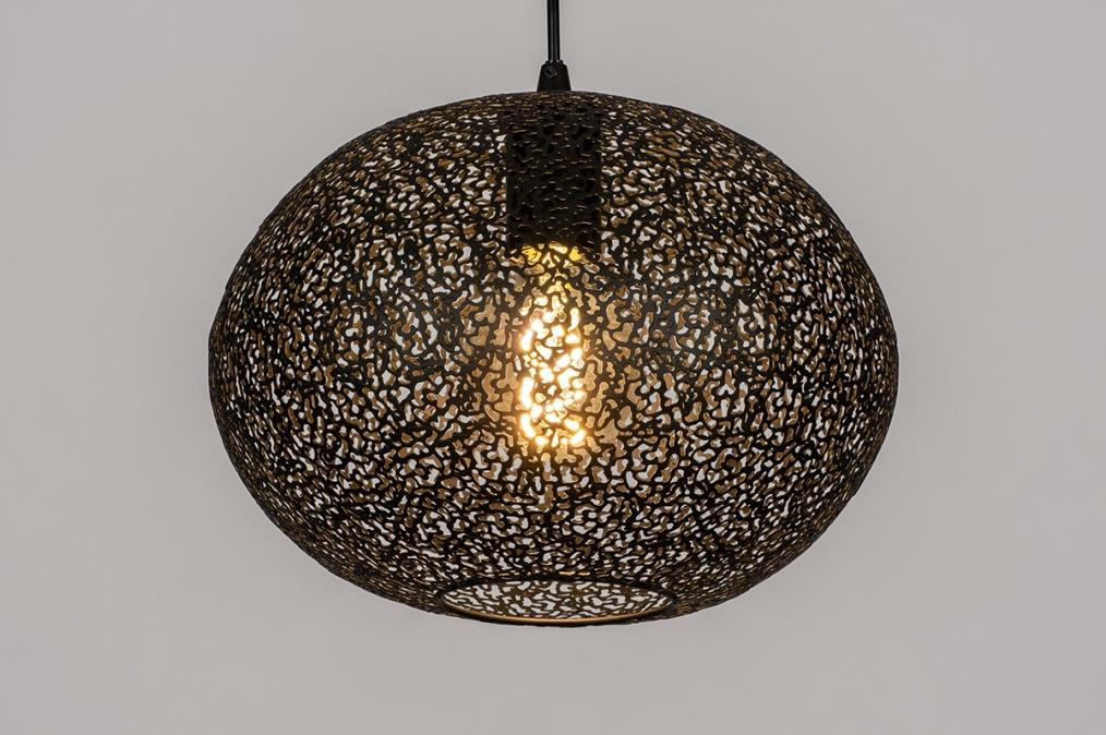 Hanglamp 73946: modern, metaal, zwart, mat #0